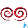 Cheap fashion jewelry colorful acrylic ear spiral wholesale