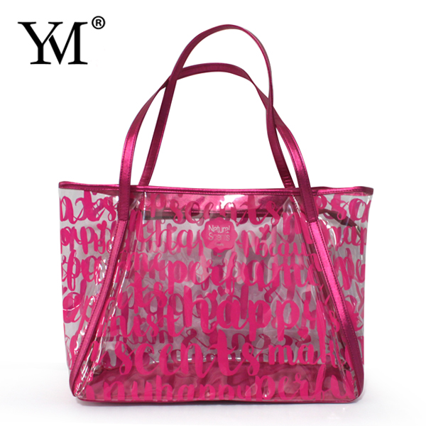 OEM Lady fashion designer PVC high quality handbag custom hand bag wholesale