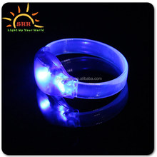 Remote Controlled Sound Activated LED Bracelet With Customized Logo For Night Club, Pubs, Concert, Holidays, Night