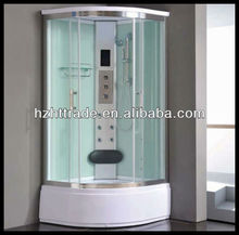 Tempered glass completed function modern computer controled simple shower room design