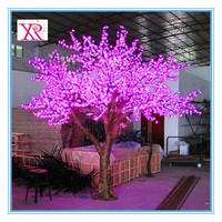 excellent plastic simulation led outdoor Christmas cherry blossom light tree