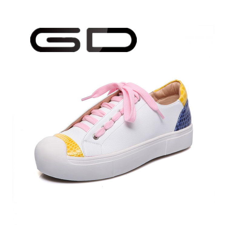 Sport lace up lazy person sneakers shoes for women