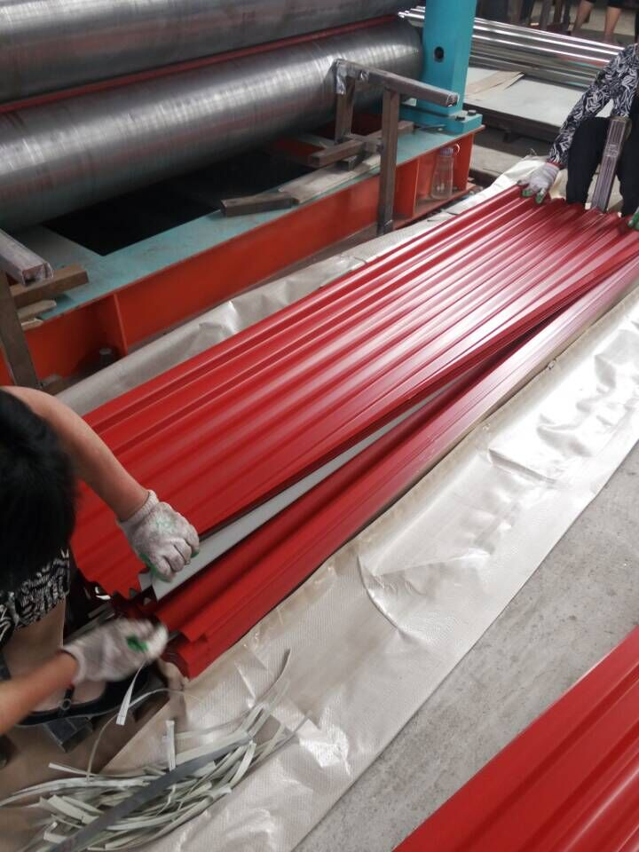 Building materials colored corrugated roofing sheets