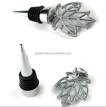 Best service wine stopper made tree leaf top bottle stopper leaves wine stopper decoration