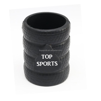 Tyre shaped can cooler tyre shaped stubby holder