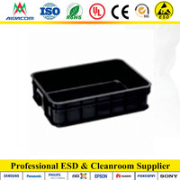 EP1922 black color conductive plastic antistatic box
