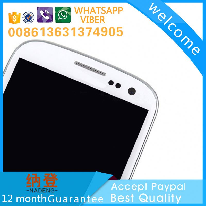 made in China for samsung galaxy s3 i9300 lcd touch screen digitizer accept paypal