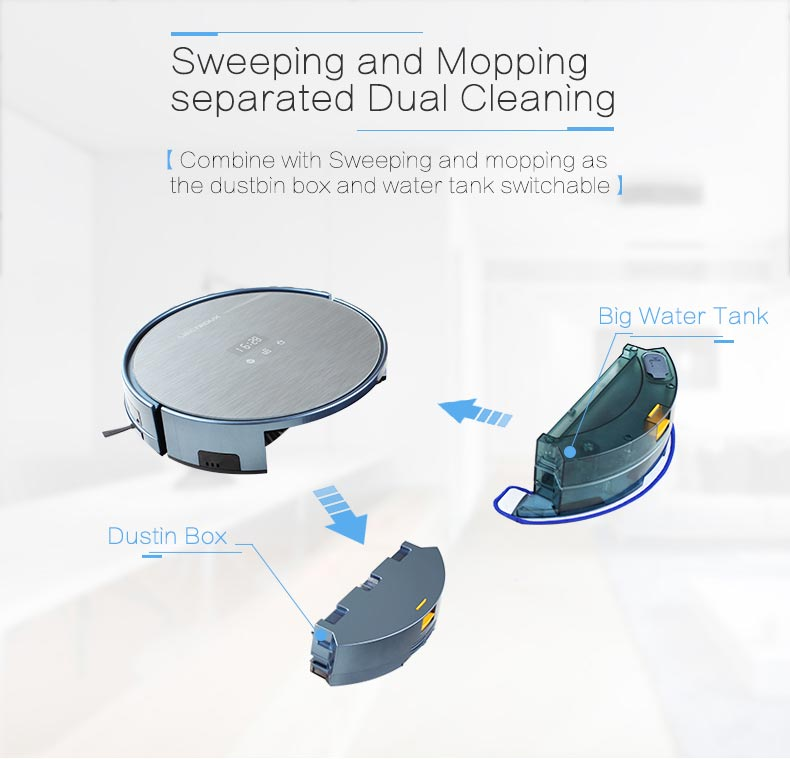 WIFI APP Controlled and Gyro Navigation Smart Vacuum Cleaner X5S