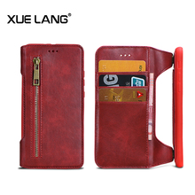 Cell phone leather wallet Case for iphone 6 7 8 can adsorb on car holder