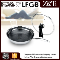 Eco-Friendly Feature and LFGB Certification #201 stainless steel pan