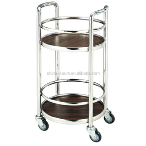 Hotel Stainless steel wine serving cart/liquor trolley/drink cart