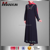 China Wholesale Clothing Ethic Style Long Dress Islamic Wear Turkey Style Moroccan Kaftan Muslim Abaya Embroidery Arabic Abaya