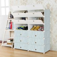 Top quality modular cube storage system shoe rack with cover