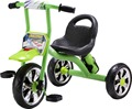 SIMPLE CHILDREN TRICYCLE WITH BIG SEAT AND RUBBLE SILIVER WHEELS