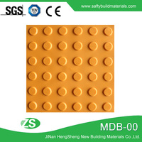 Anti-slip Warning Outdoor pvc tactile plastic blind floor brick Tiles