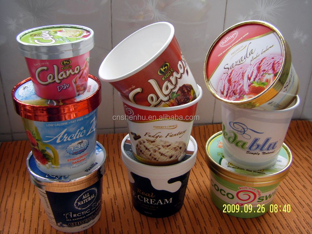 Rotary type Ice cream cup filling and sealing machine