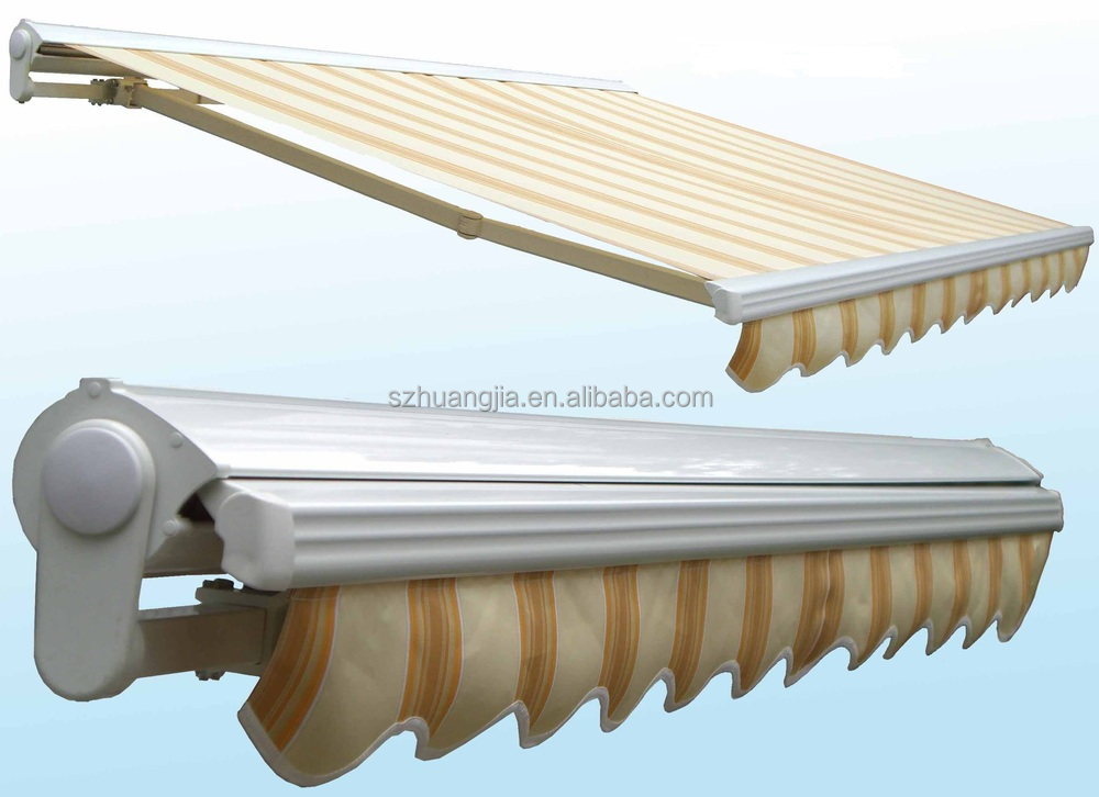 Remote Control High Tensile Open Retractable Deck Or Patio Folding Arm Awning Sun Shades Canopy