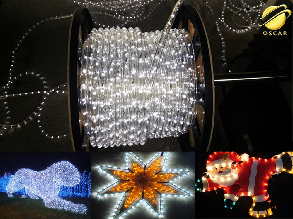 muticolor flexible rope light for christmas decoration/make creative motif outdoor/indoor display