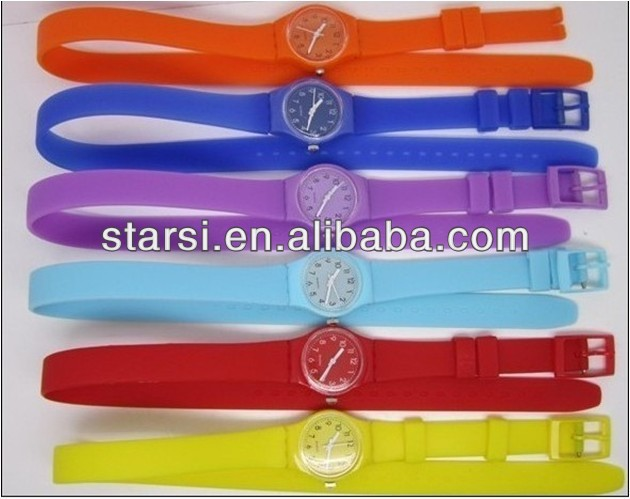 2013 Trendy Color Long Strap Watches Lady