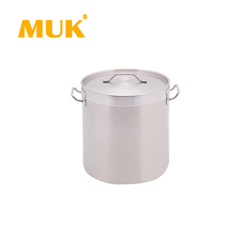 Hot sale hotel restaurant profession silver cookware storage pot with compound bottom