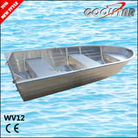 2016 new style 12ft aluminum boat fishing boat with all weled