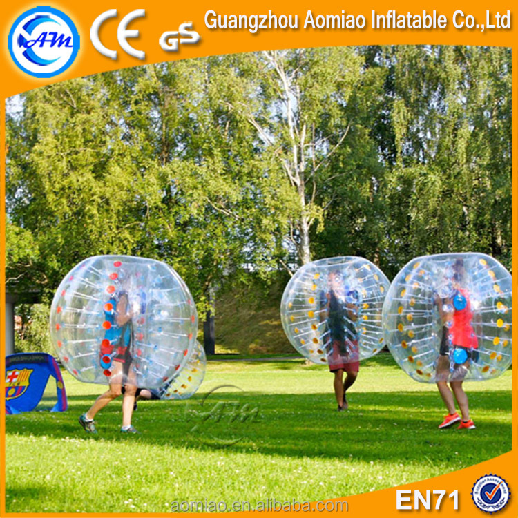 Transparent color Inflatable ball suit buddy soccer bubble bumper ball for adult