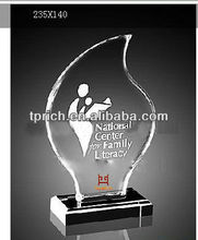 Flame acrylic trophy and awards