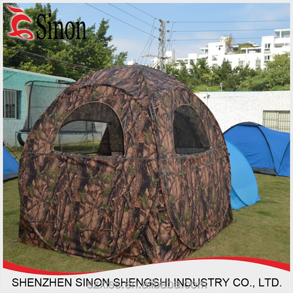 custom camouflage shelter ground hunting blind tent