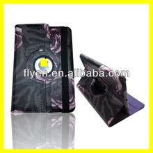 For Apple iPad Mini NEW 360 Degree Rotating PU rose pattern Leather Case Cover w Swivel Stand