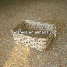 eco-friendly recycled handmade woven newspaper storage basket wholesale