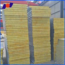 Factory direct selling 950 model glass wool sandwich panel with water resistance