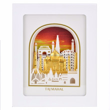 India Taj Mahal 3D Gold Foil Leaf Frame Photo The Luxurious Home Decorative Picture