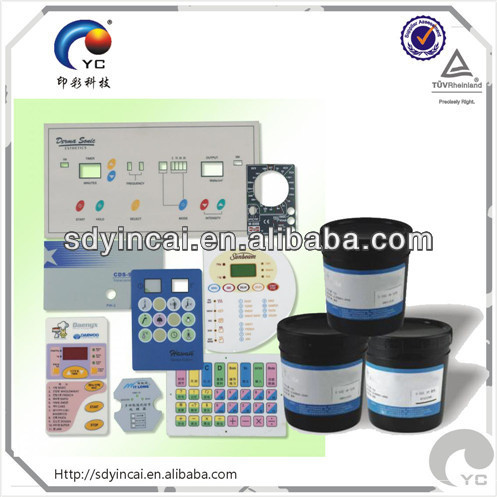 Screen printing ink especially for ABS plastic
