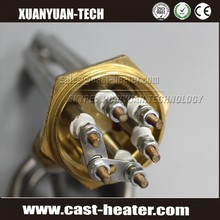 electric flange immersion heater tube