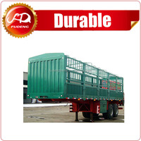 China 3 axle 50ton storage stake cargo semi trailer heavy duty truck