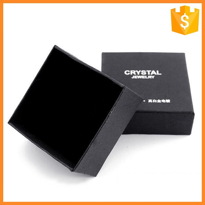 Custom Glossy Strong Decorative Black Paperboard Black Gift Boxes