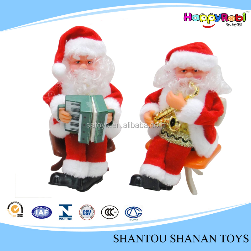 Toy craft christmas gift electric moving santa claus