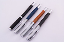 High Quanlity Office & school Multicolor Metal Rollerball Pen with Leather