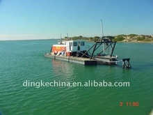 Drill-type sand dredging vessel