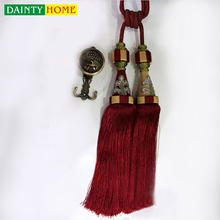Curtain Accessories Wholesale Small Ribbon Beads Tassels Tieback