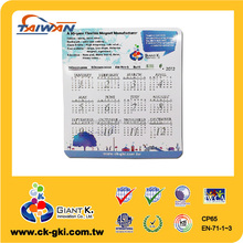 High Quality Customized Popular special year paper calendar fridge magnet