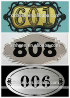 photo chemical etched metal brass number plate