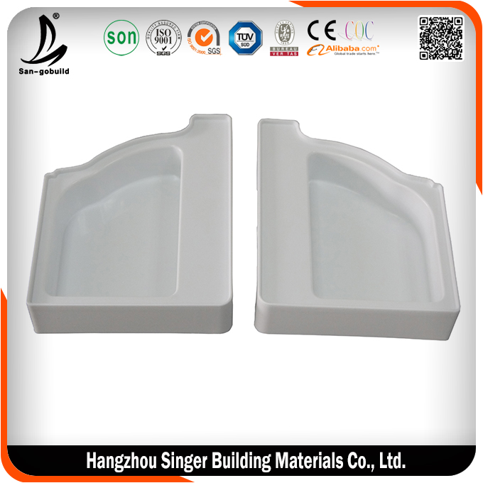 2015 hot sale quality assurance pvc white gutter