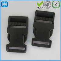 Wholesale Black Side Squeeze Buckle 1 Inch Quick Release Plastic Buckle