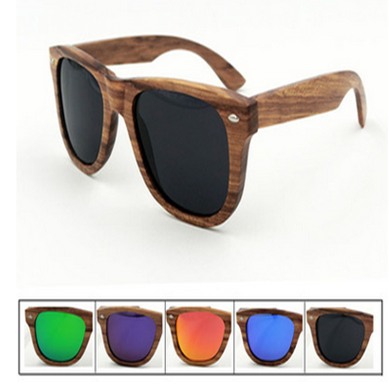 taobao double <strong>11</strong> sale champion bamboo coffee frame sunglasses polarized mirror glass unisex