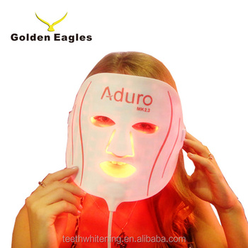 Flexible and silicone Aduro LED facial mask