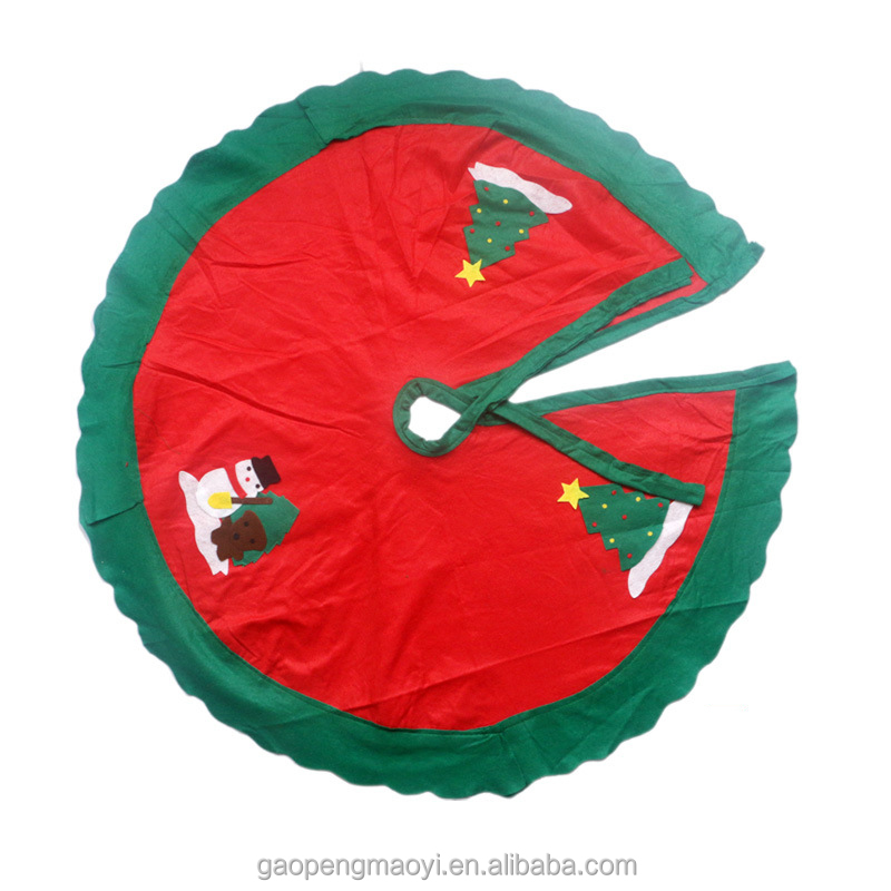 Chinese manufactur 2017 Wholesale Christmas decorations Santa Claus apron dresses cover Christmas tree skirt