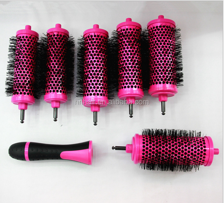 New style wholesale cushion easy clean professional plastic &aluminum hair brush