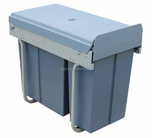 Most popular pull out waste bin container for kitchen cabinet