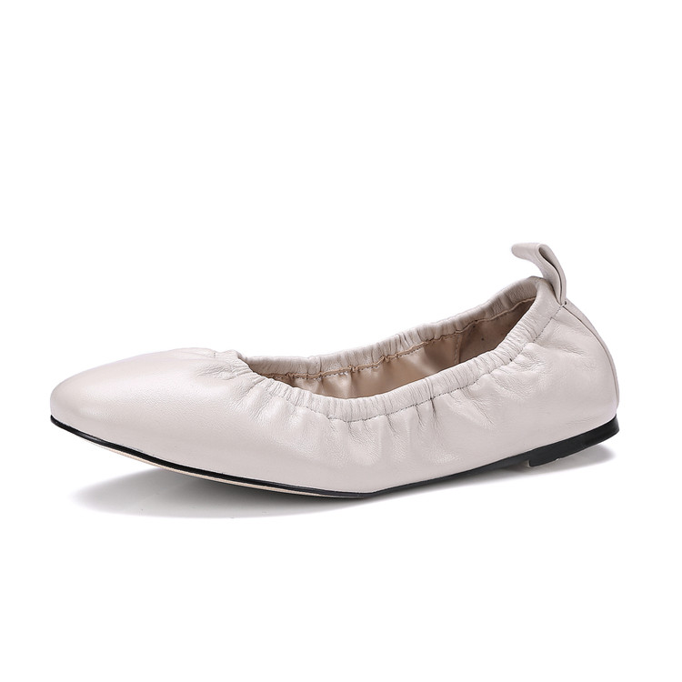 New Arrival Ballerina Soft Sole Square Toe Ballet Flats Wholesale Foldable Roll Up Shoes
